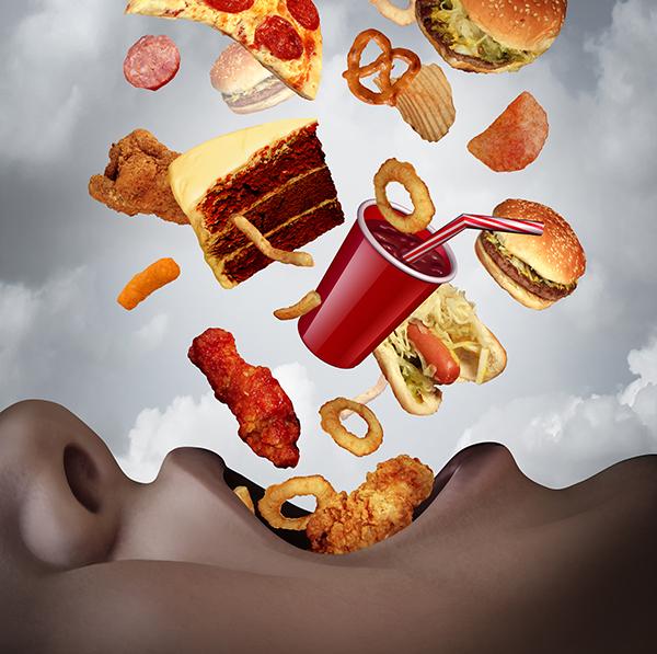 カロリーの高い食べ物のイメージ