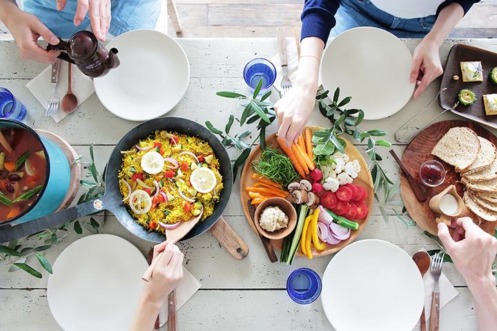 食事を工夫するイメージ